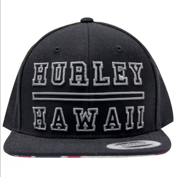 fe34c54b437 shop hurley mens 808 hawaii snap back hat 14e1e be88e